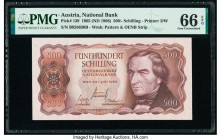 Austria Austrian National Bank 500 Schilling 1.7.1965 Pick 139 PMG Gem Uncirculated 66 EPQ.   HID09801242017  © 2020 Heritage Auctions | All Rights Re...