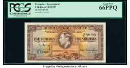 Bermuda Bermuda Government 5 Shillings 12.5.1937 Pick 8b PCGS Gem New 66PPQ.   HID09801242017  © 2020 Heritage Auctions | All Rights Reserve