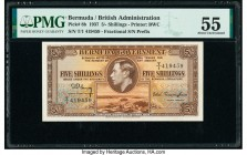 Bermuda Bermuda Government 5 Shillings 1937 Pick 8b PMG About Uncirculated 55.   HID09801242017  © 2020 Heritage Auctions | All Rights Reserve