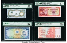 Biafra Bank of Biafra 10 Shillings ND (1968-89) Pick 4 PMG Superb Gem Unc 67 EPQ; Portuguese Guinea Banco Nacional Ultramarino 100 Escudos 17.12.1971 ...
