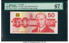 Canada Bank of Canada $50 1988 Pick 98d BC-59dA Replacement PMG Superb Gem Unc 67 EPQ.   HID09801242017  © 2020 Heritage Auctions | All Rights Reserve...