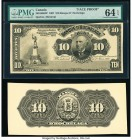 Canada Montreal, PQ- Banque d'Hochelaga $10 1.3.1907 Pick S797p Ch.# 360-18-08FP; 360-18-08BP Front and Back Proofs PMG Choice Uncirculated 64 EPQ; Cr...