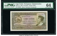 Cape Verde Banco Nacional Ultramarino 5 Escudos 16.11.1945 Pick 41 PMG Choice Uncirculated 64.   HID09801242017  © 2020 Heritage Auctions | All Rights...
