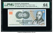 Denmark National Bank 500 Kroner 1997 Pick 58a PMG Choice Uncirculated 64.   HID09801242017  © 2020 Heritage Auctions | All Rights Reserve
