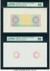 El Salvador Banco Occidental 1 Colon ND (1929) Pick S192 Printer's Color Tint Book (4); Progressive Color Proof 5 Examples PMG Choice Uncirculated 64;...