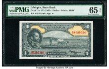 Ethiopia State Bank of Ethiopia 1 Dollar ND (1945) Pick 12a PMG Gem Uncirculated 65 EPQ.   HID09801242017  © 2020 Heritage Auctions | All Rights Reser...