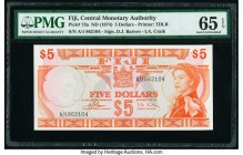 Fiji Central Monetary Authority 5 Dollars ND (1974) Pick 73a PMG Gem Uncirculated 65 EPQ.   HID09801242017  © 2020 Heritage Auctions | All Rights Rese...