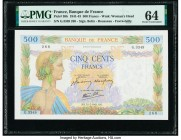 France Banque de France 500 Francs 31.7.1941 Pick 95b PMG Choice Uncirculated 64.   HID09801242017  © 2020 Heritage Auctions | All Rights Reserve