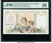 French Indochina Banque de l'Indo-Chine 500 Piastres ND (1939) Pick 57 PMG Choice About Unc 58.   HID09801242017  © 2020 Heritage Auctions | All Right...