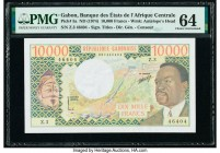 Gabon Banque des Etats de l'Afrique Centrale 10,000 Francs ND (1974) Pick 5a PMG Choice Uncirculated 64.   HID09801242017  © 2020 Heritage Auctions | ...