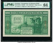 Germany State Loan Bank East 1000 Mark 4.4.1918 Pick R134a PMG Choice Uncirculated 64.   HID09801242017  © 2020 Heritage Auctions | All Rights Reserve...