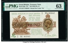 Great Britain Bank of England 1 Pound ND (1922-23) Pick 359a PMG Choice Uncirculated 63. Ink stamp.  HID09801242017  © 2020 Heritage Auctions | All Ri...