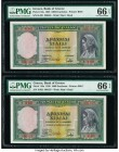 Greece Bank of Greece 1000 Drachmai 1939 Pick 110a Two Examples PMG Gem Uncirculated 66 EPQ.   HID09801242017  © 2020 Heritage Auctions | All Rights R...