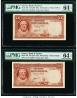 Greece Bank of Greece 50 Drachmai 1941 (ND 1945) Pick 168 Two Consecutive Examples PMG Choice Uncirculated 64 EPQ.   HID09801242017  © 2020 Heritage A...