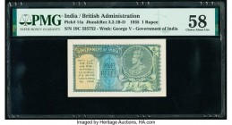 India Government of India 1 Rupee 1935 Pick 14a Jhun3.2.1B-D PMG Choice About Unc 58.   HID09801242017  © 2020 Heritage Auctions | All Rights Reserve