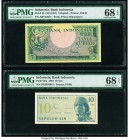 Indonesia Bank Indonesia 5 Rupiah; 10 Sen ND (1957); 1964 Pick 49; 92a Two Examples PMG Superb Gem Unc 68 EPQ.   HID09801242017  © 2020 Heritage Aucti...