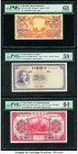 Indonesia Bank Indonesia 10 Rupiah 1.1.1959 Pick 66 PMG Choice Uncirculated 63; China Bank of China; Bank of Communications 5; 10 Yuan 1937; 1914 Pick...