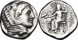 Continental Greece. Kings of Macedon. Philip III Arrhidaios (323-317 BC). AR Tetradrachm, in the name and types of Alexander III of Macedon. Struck un...