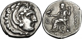 Continental Greece. Kings of Macedon. Philip III Arrhidaios (323-317 BC). AR Drachm, in the name and types of Alexander III of Macedon, c. 323-317 BC....