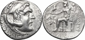 Continental Greece. Kings of Macedon. AR Tetradrachm, in the name and types of Alexander III of Macedon. Dated CY 11 (202/1 BC). Aspendos mint. D/ Hea...