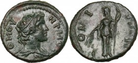 Continental Greece. Moesia, Tomis. AE 17 mm. Pseudo-autonomous issue, circa 2nd century AD. D/ TOMOVHPWOC. Diademed and draped bust of Tomos right. R/...