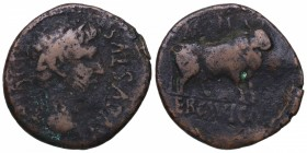 Augusto (27 aC-14 dC). Ercavica. As. AB-1277. Ag. MBC. Est.70.