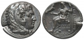 Greek, Kings of Macedon, Alexander III the Great 336-232 BC, Ar Tetradrachm.  Condition: Very Fine  Weight: 17.20 gr Diameter: 27 mm