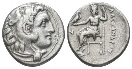 Greek, Kings of Macedon, Alexander III the Great 336-232 BC, Ar Drachm.  Condition: Very Fine  Weight: 4.30 gr Diameter: 17 mm
