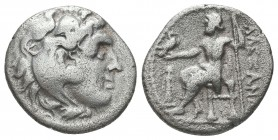 Greek, Kings of Macedon, Alexander III the Great 336-232 BC, Ar Drachm.  Condition: Very Fine  Weight: 3.60 gr Diameter: 17 mm