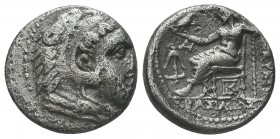 Greek, Kings of Macedon, Alexander III the Great 336-232 BC, Ar Drachm.  Condition: Very Fine  Weight: 3.90 gr Diameter: 16 mm