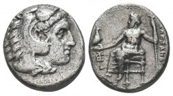 Greek, Kings of Macedon, Alexander III the Great 336-232 BC, Ar Drachm.  Condition: Very Fine  Weight: 4.00 gr Diameter: 16 mm
