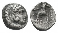 Greek, Kings of Macedon, Alexander III the Great 336-232 BC, Ar Drachm.  Condition: Very Fine  Weight: 0.60 gr Diameter: 9 mm
