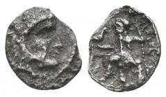 Greek, Kings of Macedon, Alexander III the Great 336-232 BC, Ar Obol.  Condition: Very Fine  Weight: 0.40 gr Diameter: 9 mm