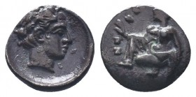 Cilicia, Satraps, AR Obol, 4th century BC  Condition: Very Fine  Weight: 0.50 gr Diameter: 9 mm