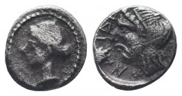 Cilicia, Satraps, AR Obol, 4th century BC  Condition: Very Fine  Weight: 0.70 gr Diameter: 9 mm
