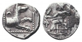 Cilicia, Satraps, AR Obol, 4th century BC  Condition: Very Fine  Weight: 0.60 gr Diameter: 9 mm