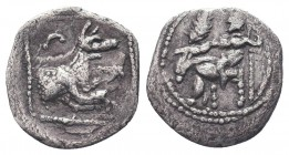 Cilicia, Satraps, AR Obol, 4th century BC  Condition: Very Fine  Weight: 0.70 gr Diameter: 13 mm