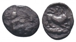 Cilicia, Satraps, AR Obol, 4th century BC  Condition: Very Fine  Weight: 0.70 gr Diameter: 10 mm