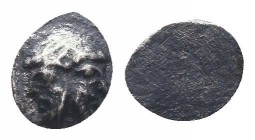 Cilicia, Mallos AR Obol. Circa 440-390 BC. Bearded janiform head / Head (of Bellerophon?) left, wearing cap  Condition: Very Fine  Weight: 0.20 gr Dia...