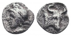 Greek, Uncertain Obol Ar, c. 480 BC,  Condition: Very Fine  Weight: 0.30 gr Diameter: 7 mm
