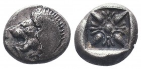 Miletos AR Obol, c. 525-475 BC  Condition: Very Fine  Weight: 1.10 gr Diameter: 9 mm