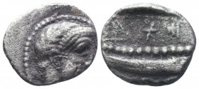 ARADOS. Phoenicia. Ca. 348/7-339/8 B.C. Tetraobol.  Condition: Very Fine  Weight: 2.30 gr Diameter: 15 mm