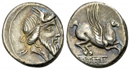 Q. Titius AR Denarius, 90 BC 