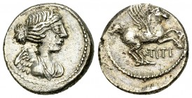 Q. Titius AR Quinarius, 90 BC 