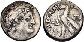 Ptolemaic Kings of Egypt, Cleopatra III & Alexander I, 107 - 101 BC, Silver Tetradrachm, Nicely Toned