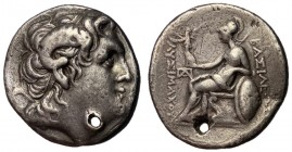Thrace, Lysimachos, 305 - 281 BC, Silver Tetradrachm, Unpublished and Very Rare