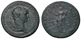Trajan, 98 - 117 AD, Dupondius, Felicitas, Unpublished, 2nd Known Example