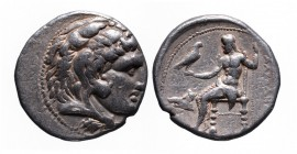 Kings of Macedonia, in the name of Alexander III the Great, 336-323 BC, posthumous issue, uncertain Mint in Phoenicia or Syria, ca. 317-300 BC. Head o...