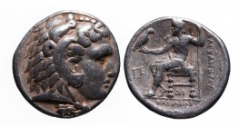Kings of Macedonia, in the name of Alexander III the Great, 336-323 BC, posthumous issue, struck under Demetrius Poliorketes, Salamis Mint, ca. 306-30...
