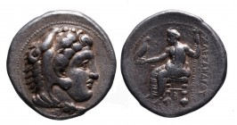 Kings of Macedonia, Alexander III the Great, 336-323 BC, lifetime issue, Tarsos Mint, ca. 333-327 BC. Head of Herakles wearing lion's scalp right Zeus...